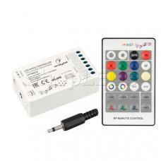 Аудиоконтроллер ARL-SOUND-RGB/RGBW (12-24V, 4x4A, RF ПДУ 24кн) (Arlight, IP20 Пластик, 3 года)