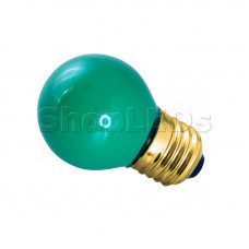 Лампа накаливания e27 10 Вт зеленая колба