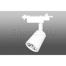 Трековый светодиодный светильник DT-100 (10W, 4100K, однофазный, белый корпус)